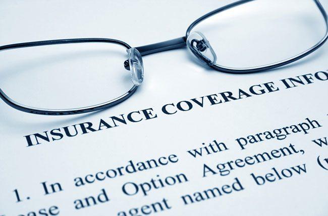 Glasses on Insurance form